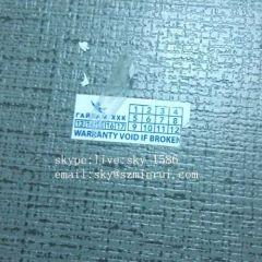 laminated destructible labels/laminated paper sticker/waterproof adhesive labels