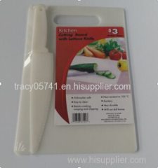 plastic chopping mat with knife set