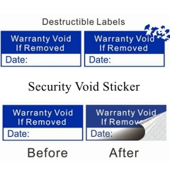 Custom Permanent Adhesive Sticker Anti-fake Void Sticker Paper Security Warranty Sticker Self Adhesive Void Labels