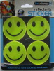 smile face shape reflective sticker for safety and for decorative