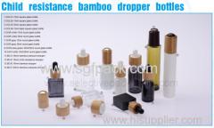 15ml30ml100mlBamboo pet met witte kleur etherische olie fles round standaard fles olie