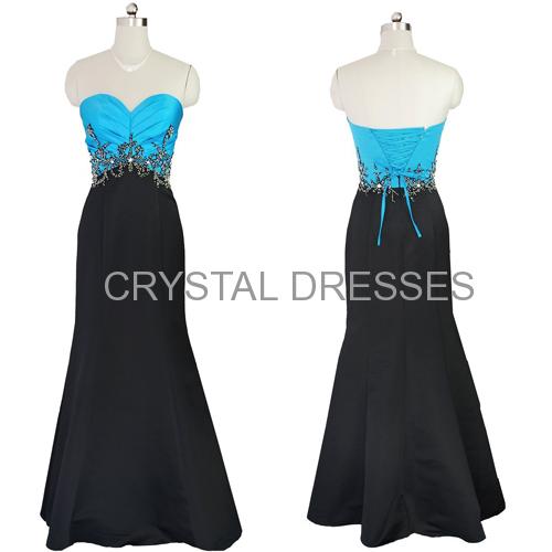 ALBIZIA Gorgeous beaded sweetheart neckline mermaid lace prom dress 2015 Black mermaid evening
