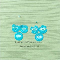 China top self-adhesive destructible label manufacturer supply tiny round blue 8mm diameter warranty for repairing use