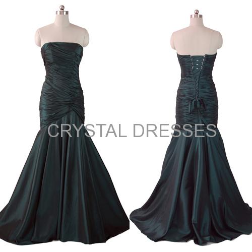 ALBIZIA Strapless off shoulder high waist Beading Stones lady lastest fashion Taffeta Mermaid prom dress