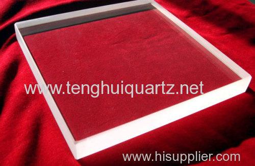 High temperature resistant quartz plate