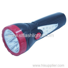 Built-in Brazil Plug Plastic rechargeable LED torch lamp