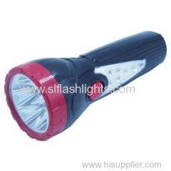 Brazil plug plastic rechargeable LED flashlight