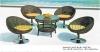 Rattan adjustable bar stools and bar table furniture sale