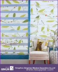 QINGM Brand With Top Quality Printed Zebra Blind Curtain Fabric