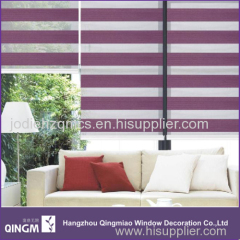 Fashional Hand Control 7-Folded Blind Fabric Zebra Blind For Decoration