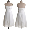 ALBIZIA Gorgeous Ivory Pleated Strapless A-Line Layered Short Chiffon Pleats Homecoming/Cocktail Dress