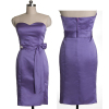 ALBIZIA Eye-catching Lilac Sweetheart A-Line Satin Tea-Length Bridesmaid Cocktail Dress