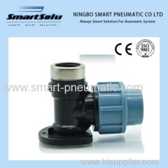 PP Compression Fitting-Wall Plate Elbow