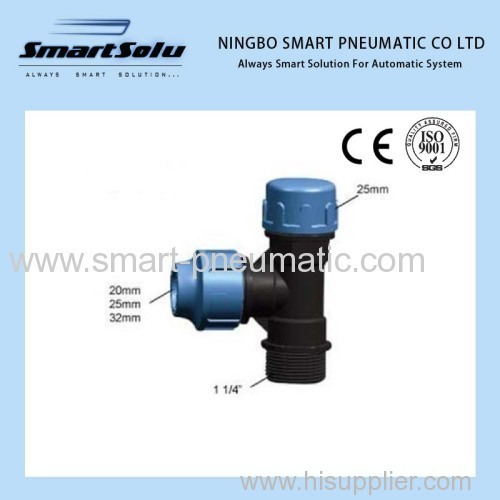 PP Compression Fitting Thread Coupling
