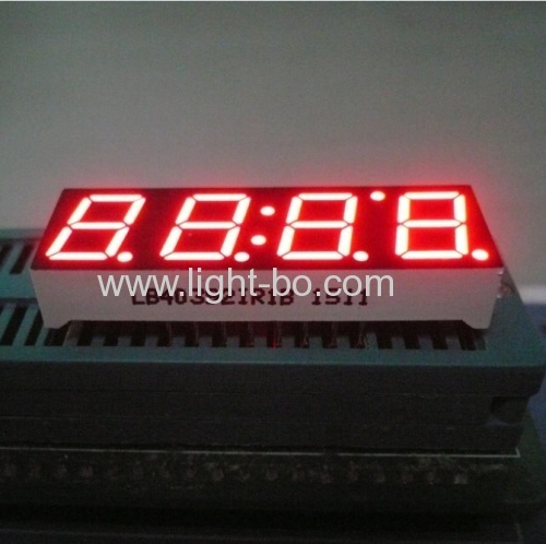 Super red 10mm 4 digit 7 segment led display Common anode for instrument panel