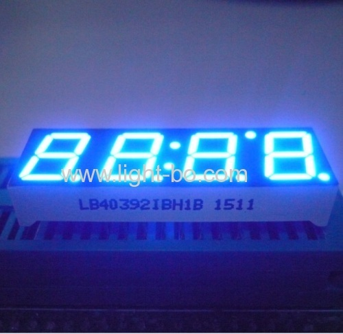 Ultra blue 4 digit 7 segment led display 0.39  for home appliances controller