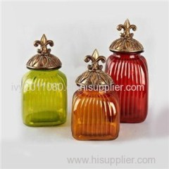 Colored Square Glass Mason Jars