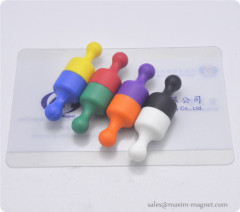 Plastic Magnetic Push Pin with ABS and transparant plastics