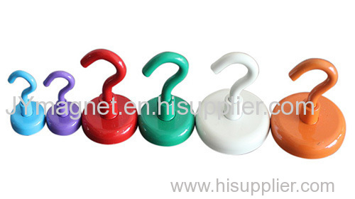 Strong Magnetic Ndfeb Hook With Different Color