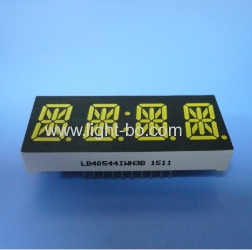 Custom ultra white common Anode 4 digit 0.54 14 segment LED display for instrument panel