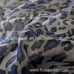 Screen Print Linen Scarf