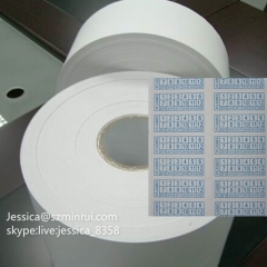 Custom Matte White Paper Security Sticker Anti-counterfeit Material Destructible Label Self Adhesive Vinyl Rolls
