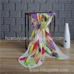 Custom Design Cotton Silk Scarf