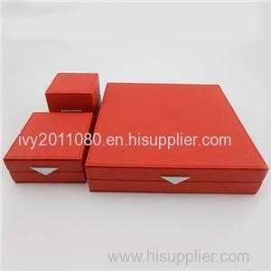 Three Pcs Jewelry Leather Box Set