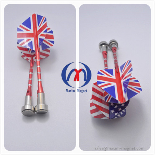 Magnetic darts with aluminium body