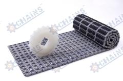 rubber top modular conveyor belt with flight (QNB rubber top)
