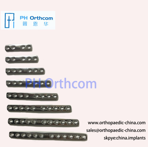 Width 8.0mm Straight Compression Plates Small Animal Veterinary Orthopedic Implants Internal Fixation System
