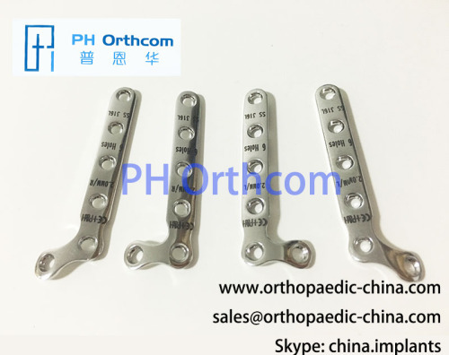2.0mm L Plate 90° 135° 2+4 holes left and right Small Animal Veterinary Orthopedic Implants Internal Fixation System