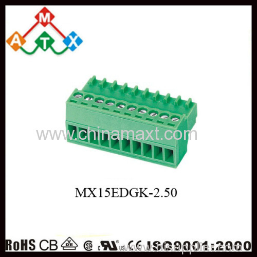 Terminal Block Connector Pluggable Type Green MX15EDGK manufacturer