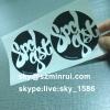 China Supply Non Removable Printed Eggshell Stickers Round Destructible Vinyl Sticker