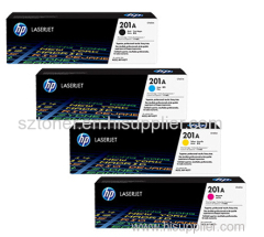 HP 201A Original LaserJet Toner Cartridge(CF400A CF401A CF402A CF403A) for HP M252DW M252N M277DW M277N