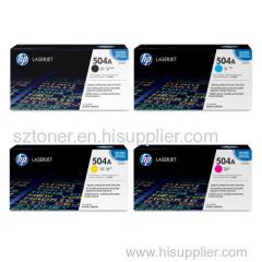 HP 504A Original LaserJet Toner Cartridge(CE250A CE251A CE252A CE253A) for HP CP3525dn CM3530 CE250A