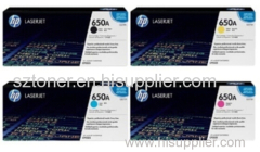 HP 650A Original LaserJet Toner Cartridge CE270A CE271A CE272A CE273A For HP Colour LaserJet Enterprise CP5525 M750 prin