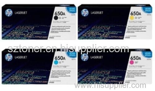 HP 650A Original LaserJet Toner Cartridge CE270A CE271A CE272A CE273A For HP Colour LaserJet Enterprise CP5525 M750 prin
