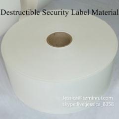 Custom Die Cut Vinyl Adhesive Paper Rolls Destructible Vinyl Security Label Eggshell Paper Sticker Material