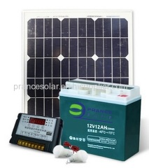 Portable 30W small household solar Lighting System