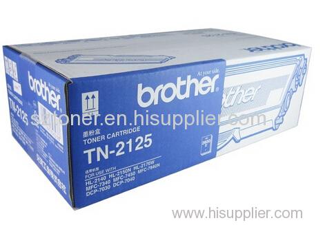 Original Brother TN-2125 Toner Cartridge for Brother HL-2140 HL-2150N HL-2170W MFC-7340 MFC-7450 MFC-7840N DCP-7040 DCP-