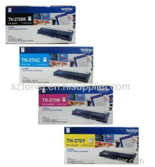 Original Brother TN-270BK TN-270C TN-270Y TN-270M Toner Cartridge for Brother DCP-9010CN MFC-9120CN 9320CW HL-3040CN