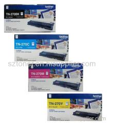 Original Brother TN-270BK TN-270C TN-270Y TN-270M Toner Cartridge for Brother DCP-9010CN MFC-9120CN 9320CW HL-3040CN