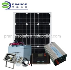 Portable 300W small household solar Lighting System