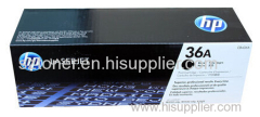 Genuine original HP CB436A LASERJET 36A ORIGINAL TONER CARTRIDGE - BLACK