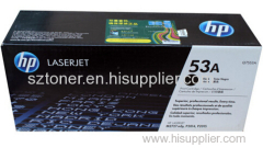 Genuine original HP Q7553A LASERJET 53A ORIGINAL TONER CARTRIDGE - BLACK