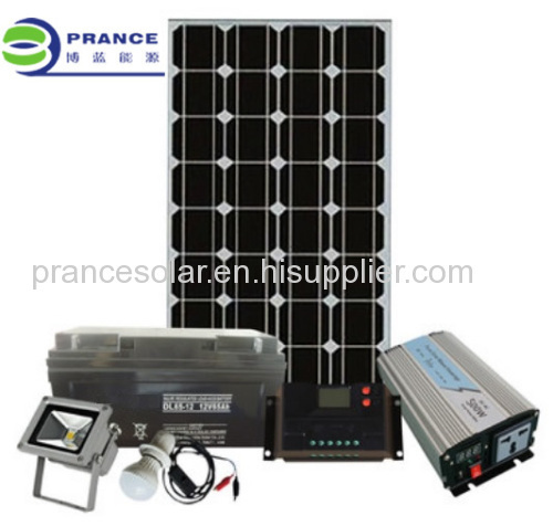 Portable 500W small household solar Lighting System
