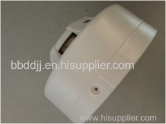 Wired battery powered photoelectric smoke detector