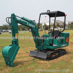 1.8ton Crawler Hydraulic Backhoe Mini Excavator with Canopy