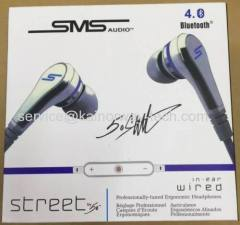 2015 SMS Audio Street by 50 In-Ear Bluetooth Headphones with Microphone and Volume Control